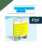 How to Make Money Online eBook