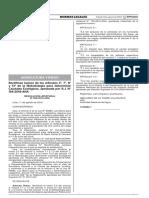 Publicacion en El Peruano Modificacion de Artcs Qecolog.peru