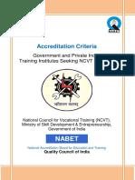 Accreditation Criteria ITI's
