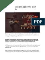 Bermain Taruhan Olahraga Online Lewat Sbobet Mobile