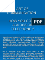 Art of Communication - How You Come Across