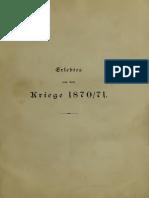 Erlebtes Aus Dem Kriege 1870-1871