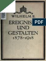 Ereignisse Und Gestalten-1878 Bis 1918-Bei Kaiser Wilhelm II