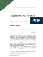 Negation and Politics