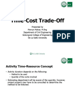 6. Time Cost Trade Off