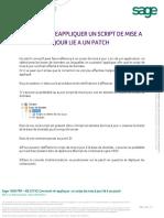 Kb 52743 - Reapplication d'Un Script de Mise a Jour Lie a Un Patch(2)