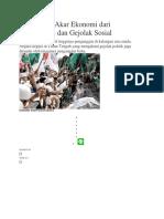 Mendeteksi Akar Ekonomi Dari Radikalisme Dan Gejolak Sosial