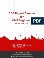 CDR Report Sample for Civil Engineers