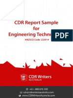 CDR Report Sample for Engineering Technologist