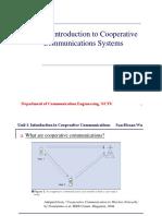 Cooperative Comm - Unit 1