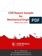 CDR Report Sample for Mechanical Engineers
