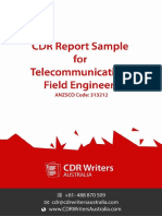 CDR Report Sample for Telecommunications Field Engineers