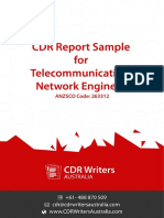 CDR Report Sample for Telecommunication Network Engineers