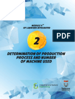 Determination of Production Process and Number of Machine Used