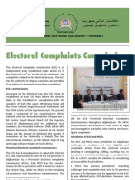 AFGHANISTAN Electoral Complaints Commission 2010 Factsheet 1