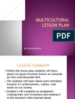 multicultural lesson plan