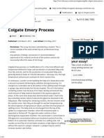 Colgate-Emery Process