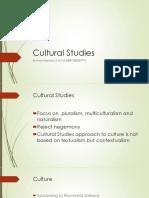 Cultural Studies 16-10-2017