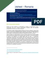 NIFO-Factsheet Romania 01 2015