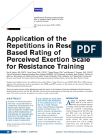 Artigo_Application of the Repetitions in ReserveBased Rating of Perceived Exertion Scale for Resistance Training