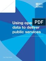 Using Open Data to Deliver Public Services report