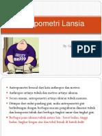 Antropometri Lansia