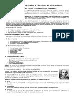 Crisis Política Española y Las Juntas de Gobierno