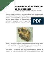 Nuevos Avances en El Análisis de Partículas de Desgaste