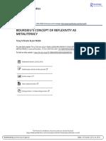 Bourdieu s Concept of Reflexivity as Metaliteracy