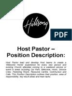 Host Pastor Position Description