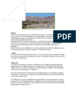 Clima , Vegetacion y Relieve Del Norte y Sur de Chile