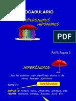 HIPERÓNIMOS_HIPÓNIMOS