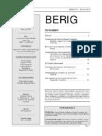 Revista Berig, nº. 8, mayo de 2007