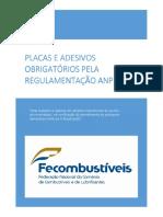 Placa e Adesivos Obrigatórios pela Regulamentação ANP