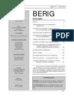 Revista Berig, n.º 9, junio de 2009