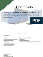 Certificado Para Treinamento de Operador de Betoneira