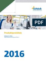 Schöck,Preisliste