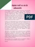 Informe Tecnologías Web 2.0