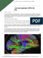 Afirmar Que Se Usa Apenas 10% Do Cérebro é Mito