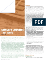 Software Estimates that Works