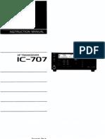 Icom IC-707 Instruction Manual