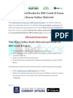 Recommended Books for RBI Grade B Exam With Bonus Online Material