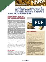 Gold Learner Information Sheets