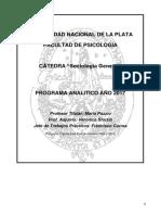 Programa Sociologia General 2017