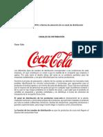 Análisis DOFA Criterios de Selección de Un Canal de Distribución