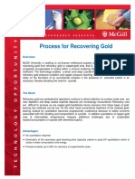 Process for Recovering Gold