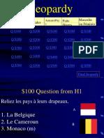Jeopardy Pays Francophones
