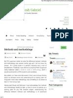 Methods and Methodology _ _ Dr Deborah Gabriel