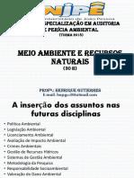 Meio Ambiente e Recursos Naturais 2018.1 Henrique Gutierres - Aula 01 (2)