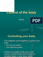 control of the body notes